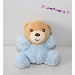 Mini doudou ours KALOO bleu plume ras 8 cm