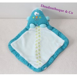 Chat bleu doudou plat Creativtoys