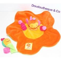 Doudou Plat Louna L'abeille MOULIN ROTY Forme Fleur et son bébé