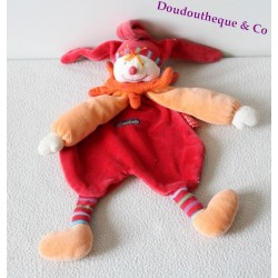 Doudou plat Capucin Dragobert MOULIN ROTY clown Dragobert 35 cm