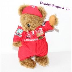Peluche ours M.Schumacher GUMMIBAR TOYS combinaison rouge ours publicitaire 30 cm