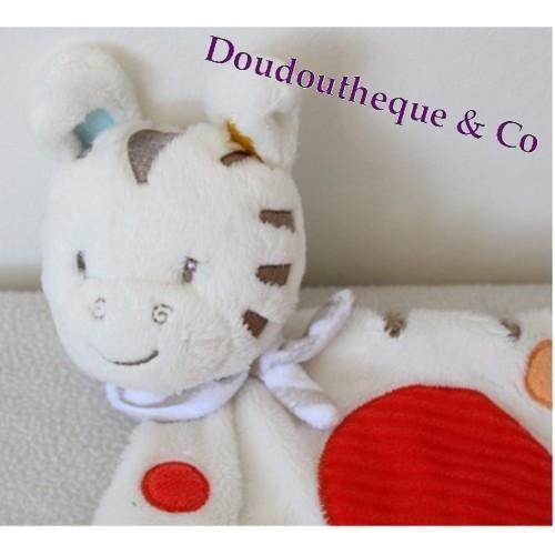 afa6268538fc Flat blankie Zebra SIMBA TOYS white circle scarf multicolor Nicotoy...