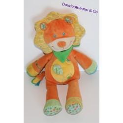 Doudou lion NICOTOY orange 30 cm