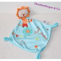 Doudou plat Lion MOTS D'ENFANTS orange jaune