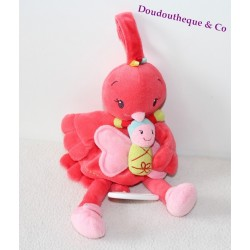 Plush musical bird NICOTOY Butterfly pink 25 cm