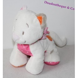 Doudou Ours Plat Orange Et Rayé Multicolore Noukie's