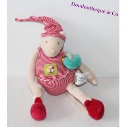 Doudou Plat marionnette Couverture HELLO KITTY rose