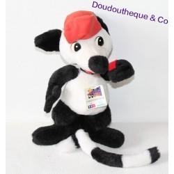 Peluche raton laveur NOUNOURS Club Mini Zig Zag Les héros d'avant l'école sur TF1 34 cm