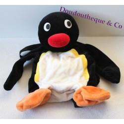 Peluche Pingouin Pingu sac a dos 40 cm