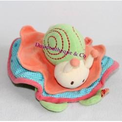 Doudou réversible escargot souris BABY TO LOVE une souris verte