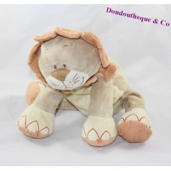 Doudou lion BENGY crinière orange 30 cm