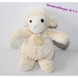 Doudou Mouton DOUDOU ET COMPAGNIE écru blanc 17 cm