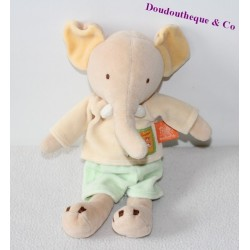 Doudou éléphant MOULIN ROTY collection Les Loustics 27cm