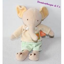 Doudou éléphant MOULIN ROTY collection Les Loustics 27cm