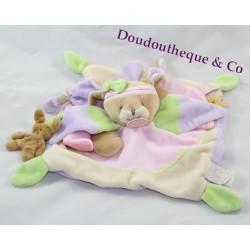 Rabbit flat comforter DOUDOU ET COMPAGNIE Lila pink purple green 24 cm