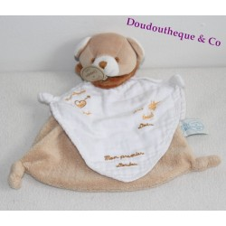 Bear DOUDOU AND COMPANY My first blanket angel beige