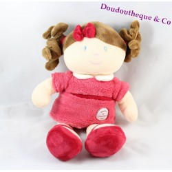 Miss Raspberry Doll DOUDOU AND COMPAGNY The Ladies Pink Dress 32 cm