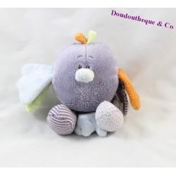 Doudou oiseau NOUKIE'S Arthur et Merlin violet 15 cm