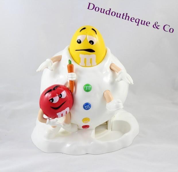 Distributeur M&M'S boule de neige m&ms rouge et jaune noel 20 cm