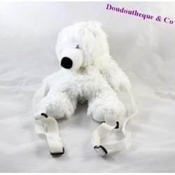 Sac à dos peluche Ourson SANDY ours blanc 28 cm