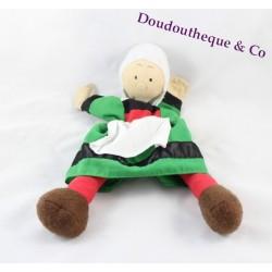 Peluche marionnette à main Bécassine SYCOMORE 35 cm