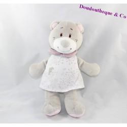 Peluche ours NOUKIE'S Violette robe blanche 25 cm