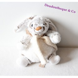 Doudou peluche Chat RODADOU RODA beige blanc 18 cm
