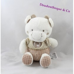 Cow flat Doudou words children's beige White Bird 20 cm