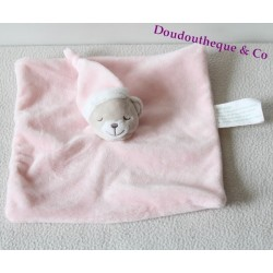 Bear flat blanket sleeper KIMBALOO square rose 22 cm