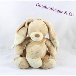 Peluche Lapin Bastien NICOTOY beige musical