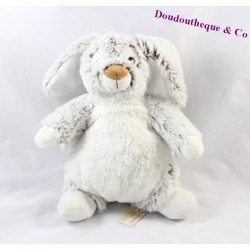 Doudou lapin RODADOU RODA gris blanc 23 cm