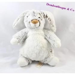Doudou rabbit RODADOU RODA grey white 23 cm