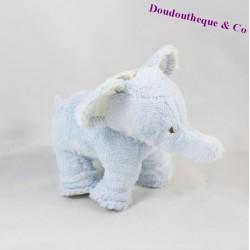 Doudou petit éléphant TARTINE ET CHOCOLAT bleu 12 cm