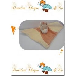 Doudou plat BENGY cheval beige et orange