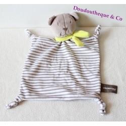 Teddy bear flat ORCHESTRA striped gray green scarf 32 cm