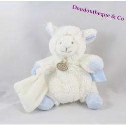 Doudou agneau DOUDOU ET COMPAGNIE mouton Mon tout petit blanc bleu