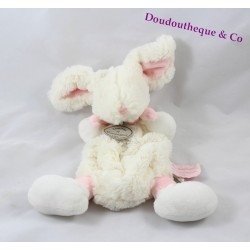 Cuddly dish rabbit Candy DOUDOU ET COMPAGNIE pink and white 25 cm