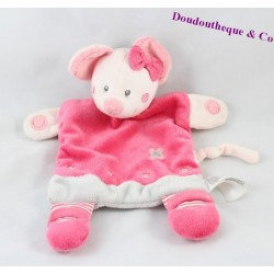 Soft toy mouse SIMBA TOYS pink gray flower