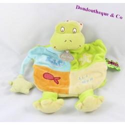 Doudou marionnette grenouille DOUDOU ET COMPAGNIE Tatoo vert 28 cm