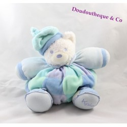Teddy bear white budderball Kaloo Blue Lagoon green 28 cm
