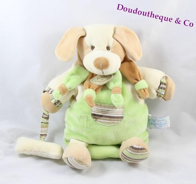 doudou marionnette copain chien doudou et compagnie vert beige os. Black Bedroom Furniture Sets. Home Design Ideas