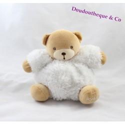 Doudou Ours KALOO fur fourrure blanc 16 cm