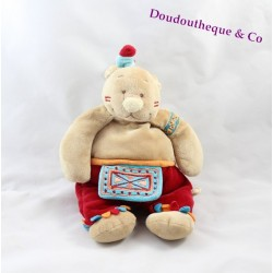 Doudou Ours NOUKIE'S indien collection Kaya et Pinto 26 cm