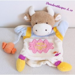 Doudou DOUDOU and company candy cow puppet orange 26 cm