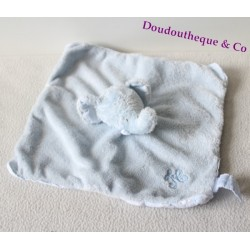 Flat comforter Ferdinand elephant TARTINE ET CHOCOLAT blue 24 cm