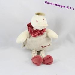 Doudou hochet Edouard le canard MOULIN ROTY grelot 21 cm