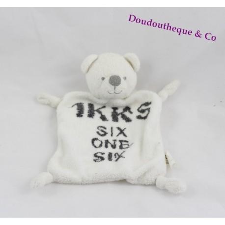 teddy bear flat ikks white printed ikks six six one sos blanket