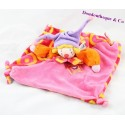 Doudou plat clown Gino MOULIN ROTY rose violet 24 cm