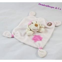 Doudou plat chien MGM DODO D'AMOUR rose 4 noeuds 18 cm