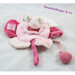 Doudou plat rond souris lila Moulin Roty